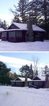 winter cabins in the adirondacks
