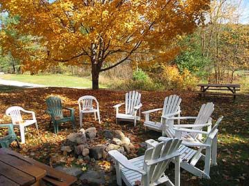 Adirondack cabins at Mill Creek